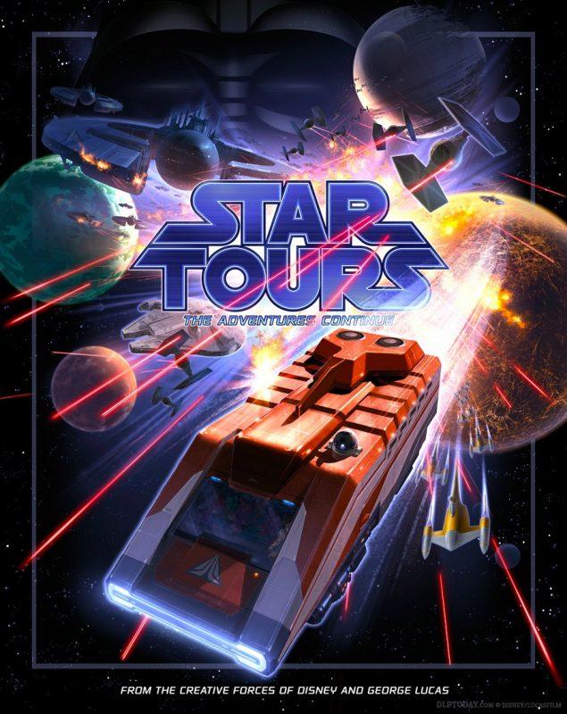 Star Tours - The Adventures Continue attraction poster, Disneyland Paris