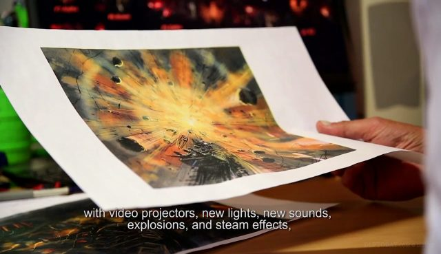 Video: Inside explosive new projection mapping effects in Big Thunder Mountain
