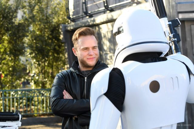 Olly Murs at Disneyland Paris for Star Wars Season of the Force