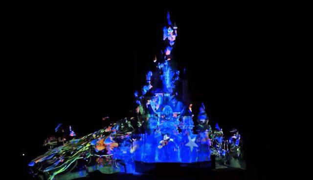 Disney Illuminations Disneyland Paris 25th Anniversary castle projection test