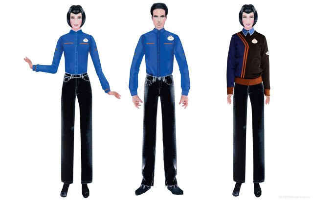 Discoveryland cast member costumes for Star Tours: The Adventures Continue and Star Wars Hyperspace Mountain at Disneyland Paris