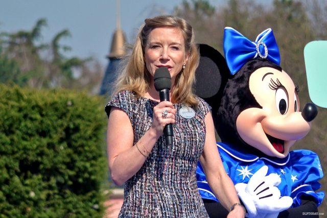 Catherine Powell at Disneyland Paris 25th Anniversary opening ceremony