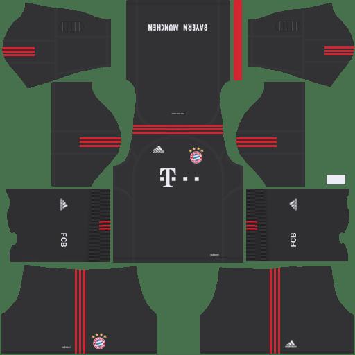 Bayern Munich Goalkeeper Home Kit Dream League Soccer