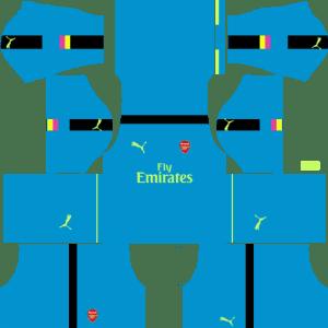 Arsenal Goalkeeper Away Kits 2016-2017