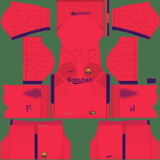 Barcelona Goalkeeper Home Kit Dream League Soccer