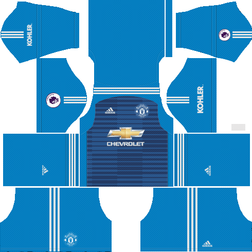 Goalkeeper Manchester United Away Kit 2018/19 - Dream League Soccer Kits