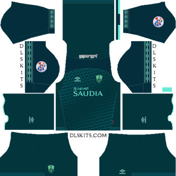 AFC Al-Ahli Saudi FC Away Kit 2019 - DLS 19 Kits - Dream League Soccer Kits URL