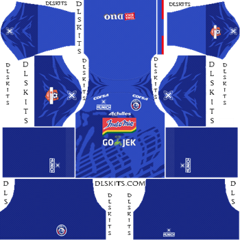 Arema FC Home Kit - DLS 19 Kits - Dream League Soccer Kits URL