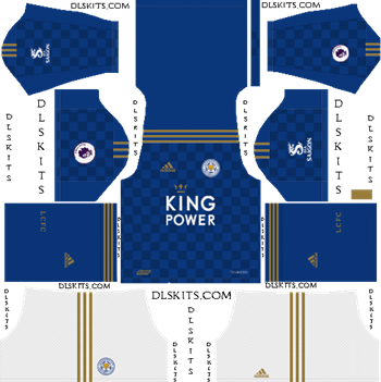 Dream League Soccer Kits Leicester City 2019-2020 Home Kit