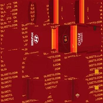 AS Roma Home Kit 2020 - Dream League Soccer Kits - DLS 20 Kits