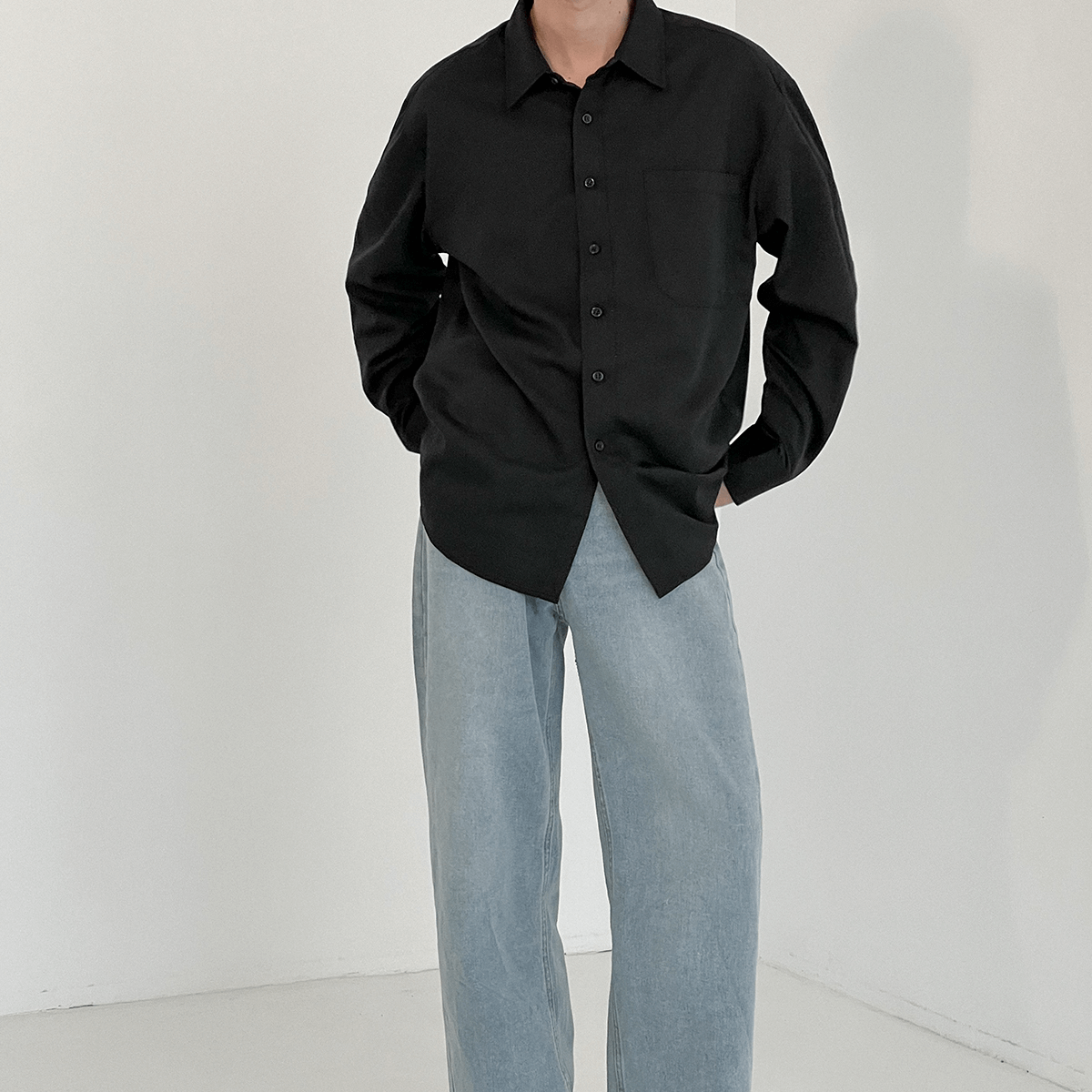Рубашка DAZO Studio Basic Large Pocket Shirt (4)