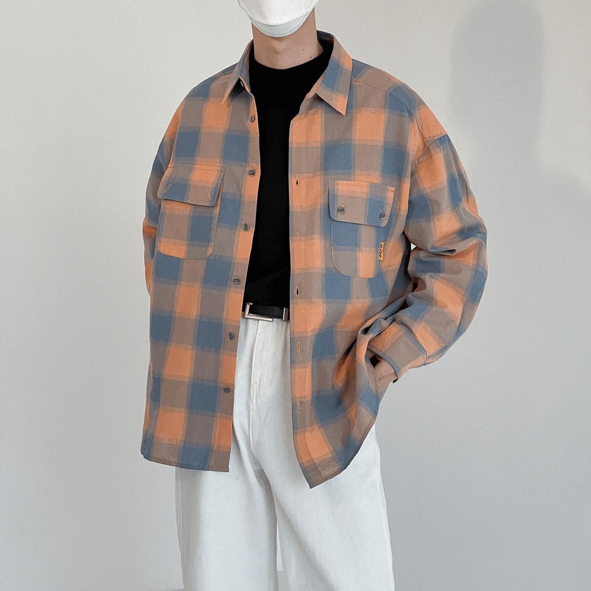 Рубашка DAZO Studio Plaid Double Pocket Shirt (6)