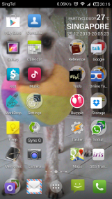 Home screen