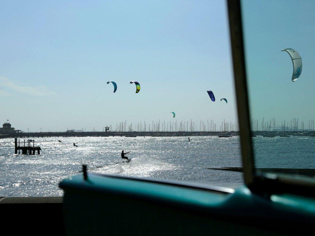 Kitesurfing at St. Kilda.
