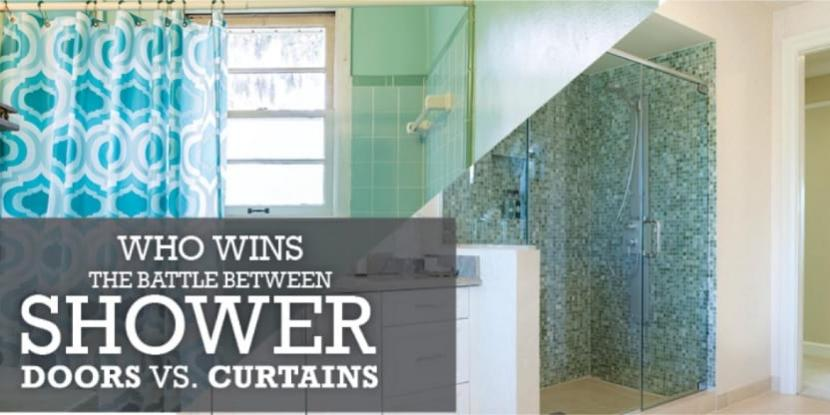 shower doors vs shower curtains who