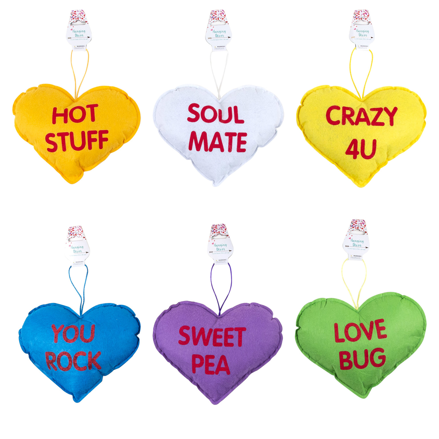 wholesale conversation heart pillow 7 x 9 assorted colors sku 2343318 dollardays