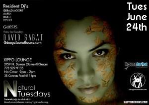 Tuesday, June 24th – Chicago - David Sabat @ Xippo - 3759 N. Damen - Chicago, IL - 8pm - 2am - Sabat Set: 12-1am - NO COVER