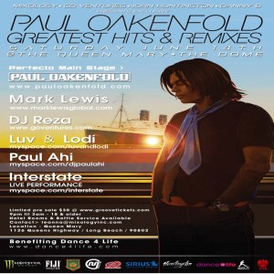 Paul Oakenfold Saturday, June 14 In Los Angeles!