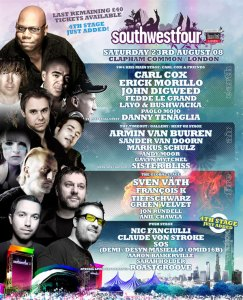 South West Four @ Clapham Common**4th Stage + more acts announced **, August 23, LONDON