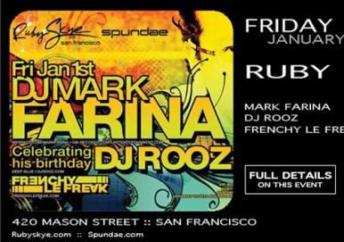 Mark Farina @ Ruby Skye