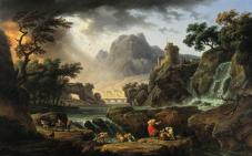 Claude-Joseph Vernet, An Approaching Storm with Mountain Landscape, 1775, Dallas Museum of Art, Foundation for the Arts Collection, Mrs. John B. O'Hara Fund