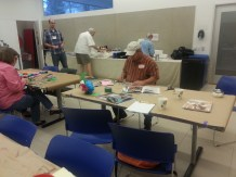 Participants working on their projects