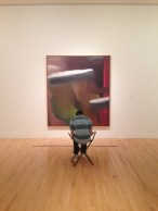 Jonathan responding to Gerhard Richter's 'Abstract Painting' in the exhibit 'Museum is History' in the Hoffman Gallery.