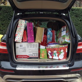 Andrea's very full car