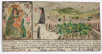 Retablo Dedicated by Aurelia Tovar de Perez, Latin American, July 10, 1913, Dallas Museum of Art, gift of Mr. and Mrs. Stanley Marcus Foundation