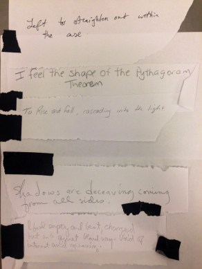 Collaborative poem inspired by Dorothea Rockburne.