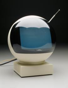"""JVC Videosphere"" television, Victor Company of Japan, designed 1972, Dallas Museum of Art, 20th-Century Design Fund"