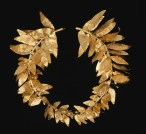 Detail of Wreath, Greek, 4th century B.C.E., gold, Dallas Museum of Art, Museum League Purchase Funds, The Eugene and Margaret McDermott Art Fund, Inc., and Cecil H. and Ida M. Green in honor of Virginia Lucas Nick, 1991.75.55