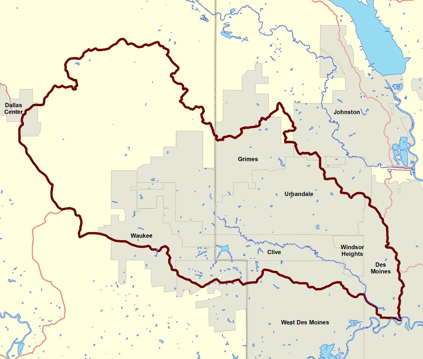 Map    Walnut Creek Watershed Management Authority