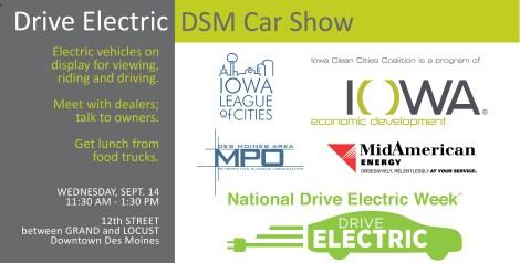 Website art -- Drive Electric DSM Car Show
