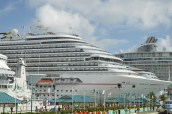 WORLD TRAVEL: NASSAU, THE BAHAMAS | Several cruise ships dock in Nassau for the day.