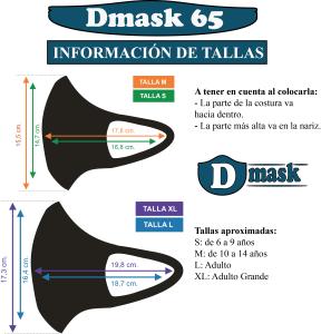 Tallas Dmask65 mascarilla higiénica reutilizable