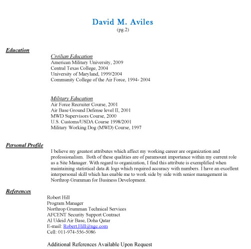 Putting references available upon request on resume