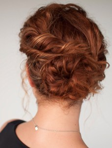 Holiday hair messy twist