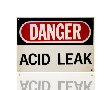 Acid Leak Sign