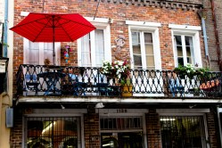 A Balcony in New Orleans's French Quarter