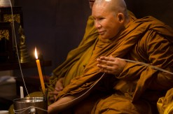 Monk Candle Light