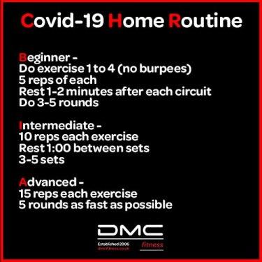 Covid-19 Home routine