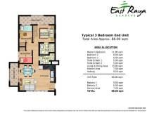 East Raya Gardens DMCI 3 Bedroom