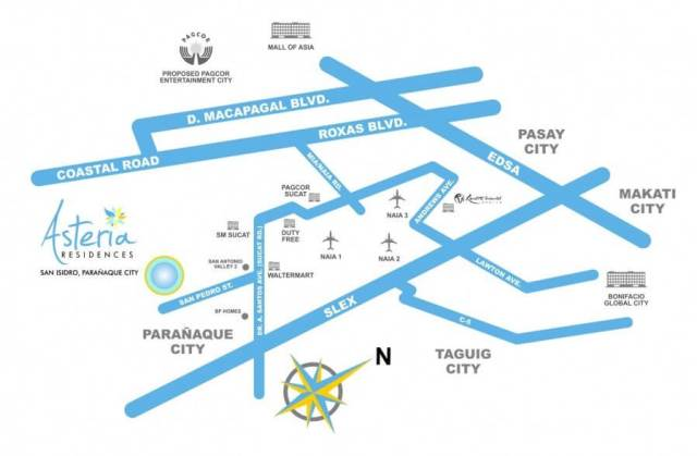 Asteria Residences 01location-map