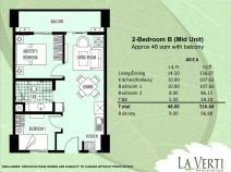 La verti Residences - 2 bedroom b unit