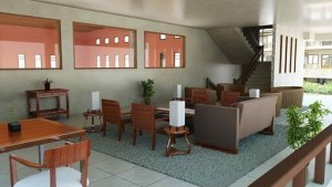 the redwoods lounge area