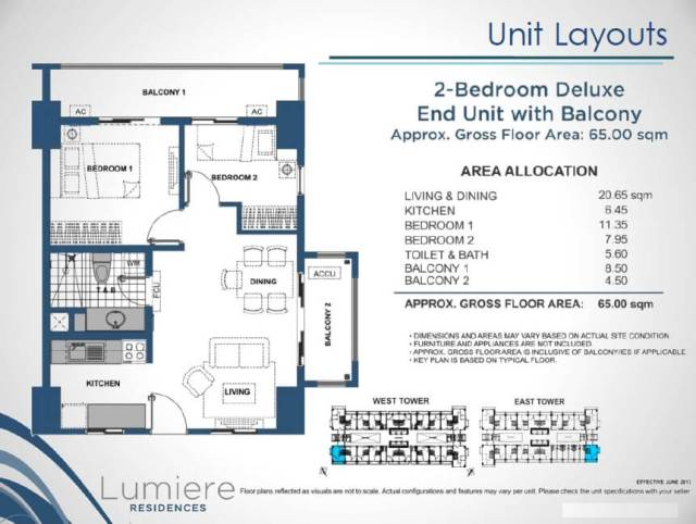 Lumiere Residences 2 Bedroom Deluxe end