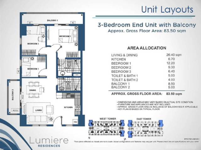 Lumiere DMCI 3 Bedroom