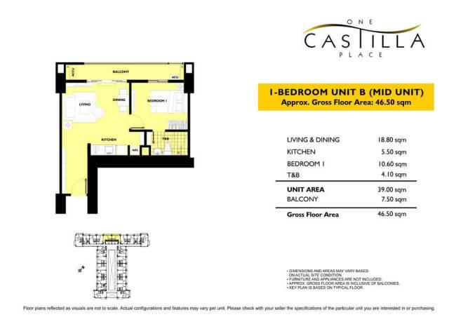 One Castilla Place Unit Layout