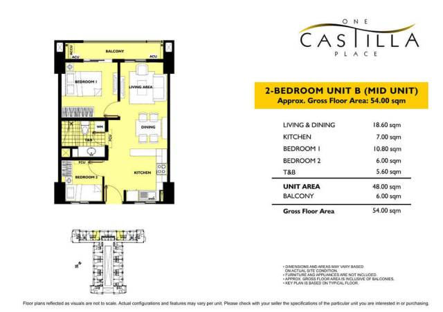 One Castilla Place Unit Layout